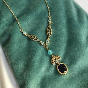 gold and jewel necklace 16""
